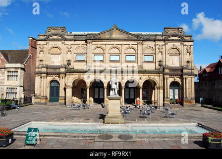 The York Art Gallery and Exhibition Square in York, England - Stock Photo