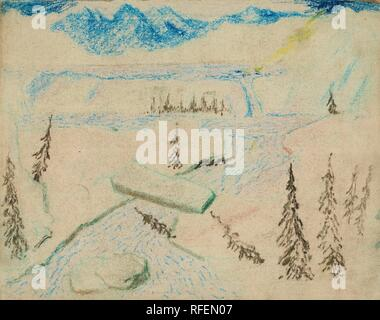 CARL FREDRIK HILL, RIVER LANDSCAPE WITH BOULDERS.jpg - RFEN07 - Stock Photo