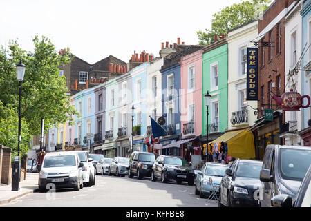 Antique shops, Portobello Road, Notting Hill, Royal Borough of Kensington and Chelsea, Greater London, England, United Kingdom - Stock Photo