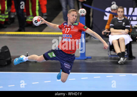 Hamburg, Germany. 25th January 2019. Magnus Jondal (Norway) during the IHF Men's World Championship 2019, semi final handball match between Germany and Norway on January 25, 2019 at Barclaycard Arena in Hamburg, Germany - Photo Laurent Lairys /MAXPPP Credit: Laurent Lairys/Agence Locevaphotos/Alamy Live News - Stock Photo