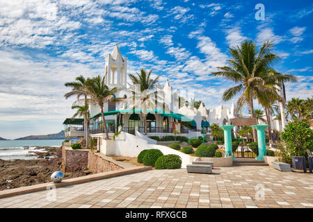 Mazatlan, Mexico-10 December, 2018: Mazatlan Golden Zone (Zona Dorada), famous touristic beach and resort zone - Stock Photo