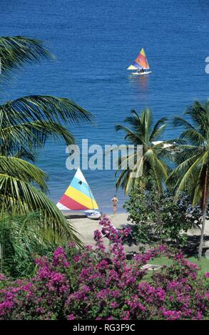 LCA, Saint Lucia: the Le Sport hotel in the northeast of the island, wellness and luxury. - Stock Photo