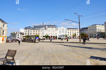 LE MANS, FRANCE - August 18, 2018: Buildings in the city centre of Le Mans, France - Stock Photo