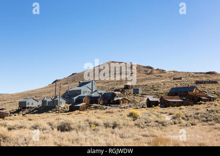 USA, California, Sierra Nevada, Bodie State Historic Park, gold mining town - Stock Photo