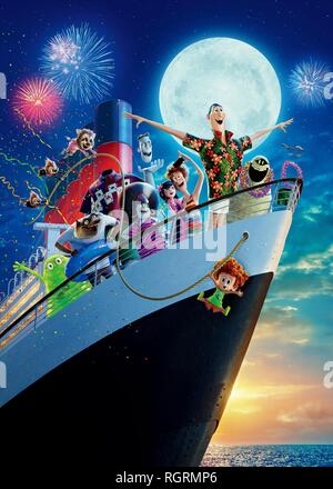 Griffin The Invisible Man, Wayne, Murray The Mummy, Dennis, Dracula, Mavis, Jonathan, Frank, Eunice & Blobby Film: Hotel Transylvania 3: Summer Vacation; Hotel Transylvania 3: A Monster Vacation (USA 2018)   / Hommage To 'Titanic'  Director: Genndy Tartakovsky 13 June 2018  SAX92712 Allstar Picture Library/SONY PICTURES ANIMATION  **Warning**  This Photograph is for editorial use only and is the copyright of SONY PICTURES ANIMATION  and/or the Photographer assigned by the Film or Production Company & can only be reproduced by publications in conjunction with the promotion of the above Film. A  - Stock Photo