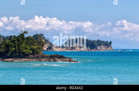 Coast line of Pacific Ocean at Manuel Antonio National Park, Costa Rica - Stock Photo