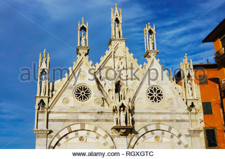 Pisa, Italy - August 21, 2014: Front of the Santa - Stock Photo