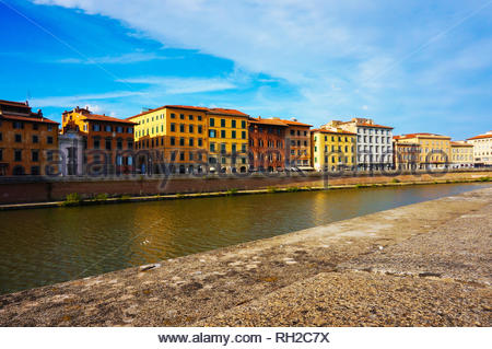Pisa, Italy - August 8, 2014: Row of colorful - Stock Photo