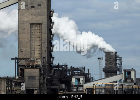 South Bank Coke ovens near Middlesbrough, north east England. UK. The coke ovens closed in Sept. 2015 - Stock Photo