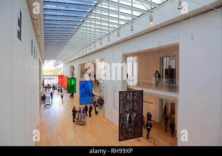 Kenneth and Anne Griffen Court in the Modern Wing of the Art Institute Chicago designed by Italian architect Renzo Piano.Chicago.Illinois.USA - Stock Photo