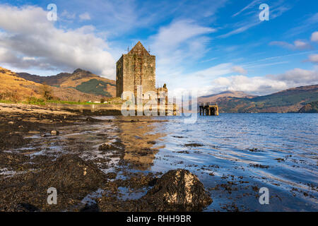 Carrick Castle on Loch Goil in Scotland. - Stock Photo