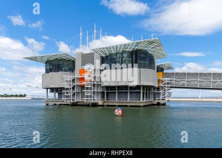 The Lisbon Oceanarium in Parque das Nações (Park of Nations), Lisbon Portugal - Stock Photo