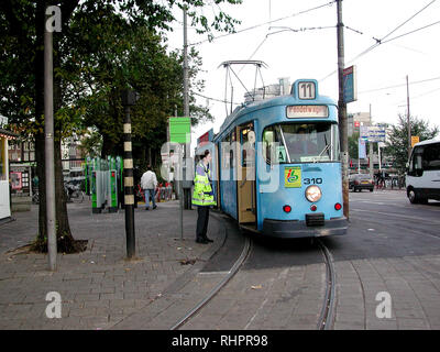 Kassel Vintage Tramcar in Amsterdam -1 - Stock Photo