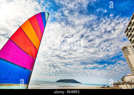 Mazatlan Golden Zone (Zona Dorada), famous touristic beach and resort zone - Stock Photo