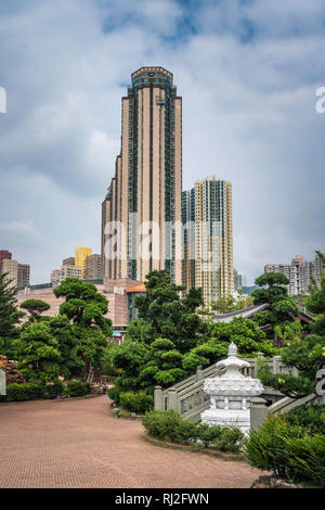 The Nan Lian Garden in Diamond Hill, Kowloon, Hong Kong, China, Asia. - Stock Photo