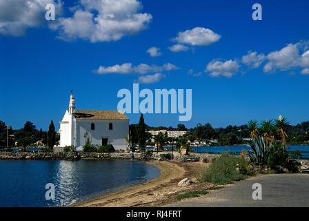 Insel Dafnila, Kirche 'Ipap?nti' - Stock Photo