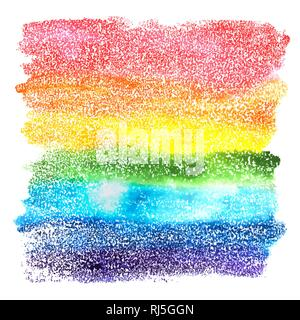 An abstract vector and watercolor background texture in rainbow colors - Stock Photo