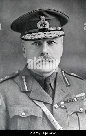 Field Marshal Douglas Haig, 1st Earl Haig, (1861 - 1928). During the First World War he commanded the British Expeditionary Force (BEF) on the Western Front from late 1915 until the end of the war. He was commander during the Battle of the Somme, the Third Battle of Ypres, the German Spring Offensive, and the Hundred Days Offensive - Stock Photo