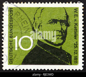GERMANY - CIRCA 1961: a stamp printed in the Germany shows Wilhelm Emanuel von Ketteler, Bishop of Mainz and pioneer in social development, circa 1961 - Stock Photo