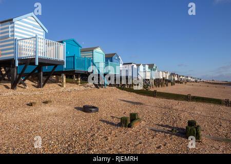Thorpe Bay beach, near Southend-on-Sea, Essex, England - Stock Photo