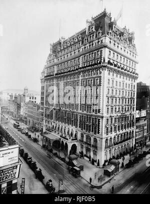 Knickerbocker Hotel, New York 1900 - Stock Photo