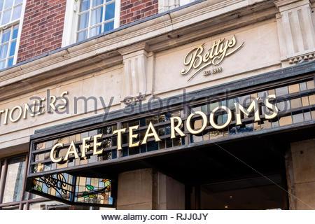 Bettys Tea Rooms York Yorkshire England - Stock Photo