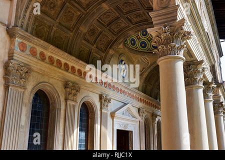 Dante Alighieri Santa Croce Church, Florence, Italy, Europe - Stock Photo
