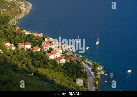 Village Strp, Bay of Kotor, Province Kotor, Montenegro - Stock Photo