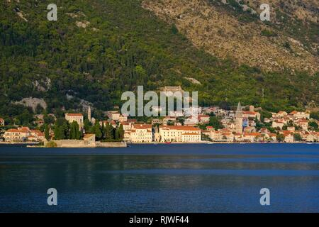 Perast, Bay of Kotor, Province of Kotor, Montenegro - Stock Photo