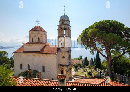 Savina Monastery, Herceg Novi, Bay of Kotor, Montenegro - Stock Photo