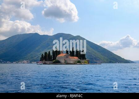 Island Sveti Dorde, Bay of Kotor, Province Kotor, Montenegro - Stock Photo