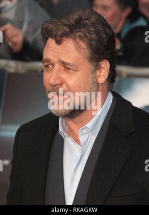 Jun 12, 2013 - London, England, UK - Man of Steel European Premiere, Empire, Leicester Square  Photo Shows: Russell Crowe - Stock Photo