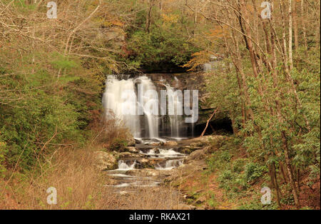 Meigs Falls is easily viewed from a pullout located along the Little River Gorge Road in Great Smokey Mountains National Park, Tennessee - Stock Photo