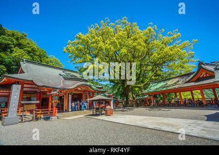 Kumano Kodo pilgrimage route. Kumano Nachi Taisha Grand Shrine. Is an example of Buddhist and Shinto. Nachisan. Nakahechi route. Wakayama Prefecture. - Stock Photo
