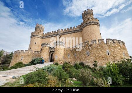 Manzanares el Real castle. - Stock Photo