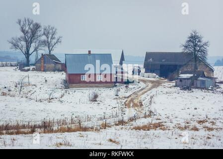 Farmstead in Dublany village within Bialystok County, Podlaskie Voivodeship of Poland. - Stock Photo