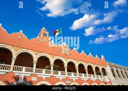 Merida city Town hall of Yucatan in Mexico. - Stock Photo