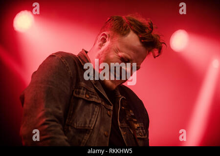 The American band The Lone Bellow performs a live concert at the Danish music festival Jelling Festival 2016. Here guitarist Brian Elmquist is seen live on stage. Denmark, 28/05 2016. EXCLUDING DENMARK. - Stock Photo