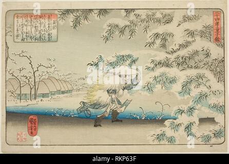Meng Zong (Moso), from the series ''Twenty-four Paragons of Filial Piety as a Mirror for Children (Nijushiko doji kagami)'' - c. 1843 - Utagawa - Stock Photo