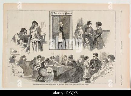 New York Charities—St Barnabas House, 304 Mulberry Street - published April 18, 1874 - Winslow Homer (American, 1836-1910) published by Harper's - Stock Photo