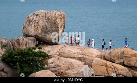 Hon Chong cape, popular tourist destinations at Nha Trang. Vietnam - Stock Photo