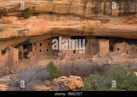 Spruce Tree House, Mesa Verde National Park, Colorado. - Stock Photo