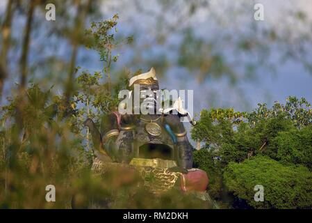 ´´Patung Semar´´, giant statue of Semar, fictional character of Javanese Culture located on the slopes of Lawu Volcano Mountain, Java island, - Stock Photo