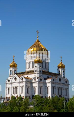 Cathedral of Christ the Saviour, Moscow, Russia - Stock Photo
