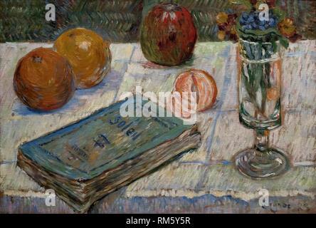 Paul Signac (1863-1935), Still Life with Book, 1883. Stilleben mit Buch. Alte Nationalgalerie, Berlin. - Stock Photo