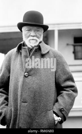 Andrew Carnegie scottish american industrialist business magnate and philanthropist Photo taken circa 1912 - Stock Photo