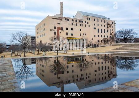 Oklahoma City, Oklahoma, United States of America - January 18, 2017. Exterior view of the Oklahoma City National Memorial Museum in Oklahoma City, OK - Stock Photo