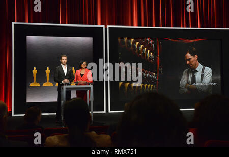 87th Oscars 2015 Nominations at the Academy Of Motion Pictures and Art jn Los Angeles. January 15, 2015. Chris Pine and Academy President Cheryl Boone Isaacs- adaped Screen PlayChris Pine and Academy President Cheryl Boone Isaacs- adaped Screen Play  Event in Hollywood Life - California, Red Carpet and backstage, movie celebrities, TV celebrities, Music celebrities, Topix, Bestof, Arts Culture and Entertainment, Photography,  inquiry tsuni@Gamma-USA.com , Credit Tsuni / USA,  accessory wear by people on event. shoes, jewelery, ring, earring, bag ambience and others. from 2015 - Stock Photo