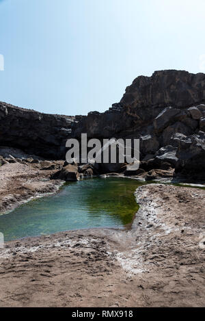 Lac Assal (Salt Lake), Djibouti, East Africa - Stock Photo