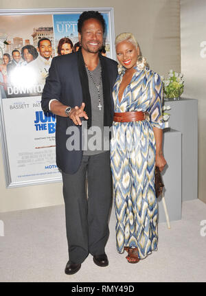 Eva Marcille, Gary Dourdan   at Jumping The Broom  Premiere at the Arclight Theatre in Los Angeles.Eva Marcille, Gary Dourdan _140  Event in Hollywood Life - California, Red Carpet Event, USA, Film Industry, Celebrities, Photography, Bestof, Arts Culture and Entertainment, Topix Celebrities fashion, Best of, Hollywood Life, Event in Hollywood Life - California, Red Carpet and backstage, movie celebrities, TV celebrities, Music celebrities, Topix, actors from the same movie, cast and co star together.  inquiry tsuni@Gamma-USA.com, Credit Tsuni / USA, 2011 - Group, TV and movie cast - Stock Photo